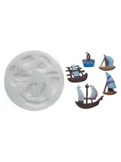 Forma do masy cukrowej SLK 247 – piraci, 50x42 mm | SILIKOMART, Sugarflex Pirates
