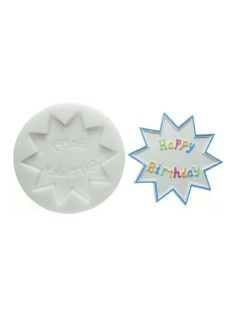 Forma do masy cukrowej SLK 038 – napis hb, 10 cm | SILIKOMART, Sugarflex Happy Birthday